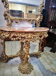 barock italien spiegel mit konsole wohnzimmer esszimmer