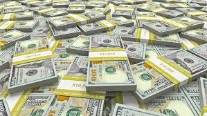 e Million Dollars In Bundles e Hundred Dollar Bills Stock