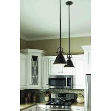 Island Lights from Lowes allen roth 8 in W Bronze Mini Pendant