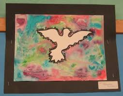 Peace Doves Watercolor Art Project For Kids