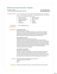 Medical Secretary Resume Sample New Unit Resumes Project