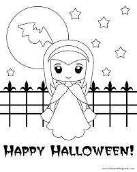 Cute Halloween Coloring Pages For Kids Archives Best Page Of Animals
