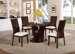 Furniture Row Dining Room Sets Crown Mark Daria 5 Piece Set With Round Pedestal Table
