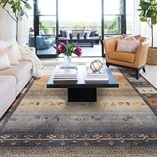 taleta moderner gabbeh teppich wohnzimmer mit hochflor bordüre bunt muster grau mehrfarbig größe 160 x 230 cm