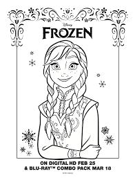 Disney Frozen Anna Coloring Sheet DisneyFrozen