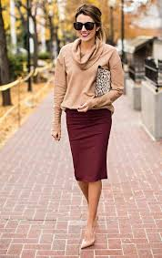 work office ideas how to style a pencil skirt glamour