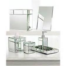 Bella Lux Mirror Rhinestone Bathroom Accessories by Bella Lux Mirror Rhinestone Crystal Bathroom Accessory Set Black