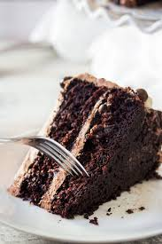 I mentioned that there s a surprise inside this cake… and ohhhh it s a good one I made a coffee syrup to drizzle in between the layers… it s so decadent