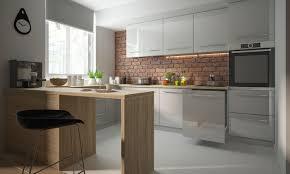 u form küchenzeile platinum einbauküche 323x255x90cm grau fronten mdf weiß camel hochglanz