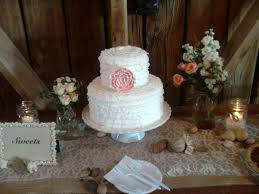 Small Rustic Wedding Cakes Photo