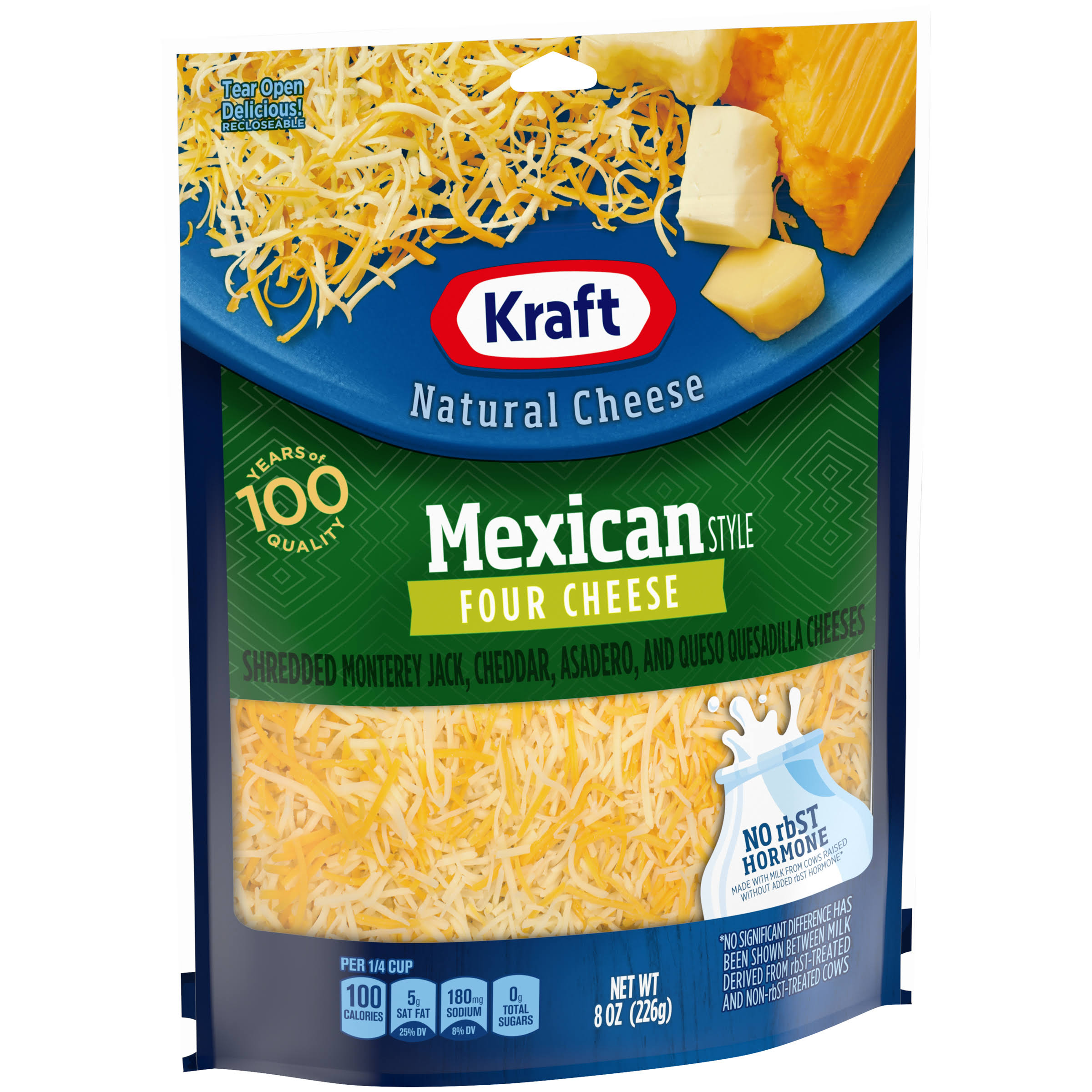 Kraft Shredded Mexican Style Four Cheese - 8oz