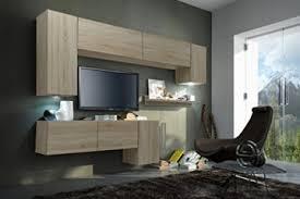 future 5 moderne wohnwand exklusive mediamöbel tv schrank neue garnitur große farbauswahl rgb led beleuchtung verfügbar sonoma weiß led