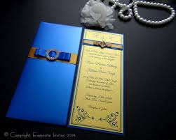 29 Royal Blue And Gold Wedding Invitations Vizio Invitation Paper