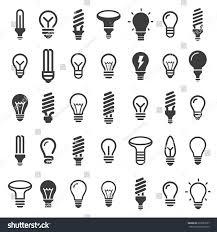 best set light bulbs led ls stock vector 635581007