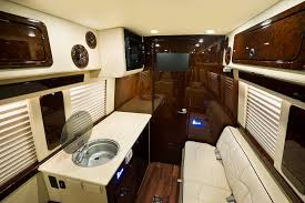 Comforts Of Home On Vacation Luxury Custom Conversion Van Interior