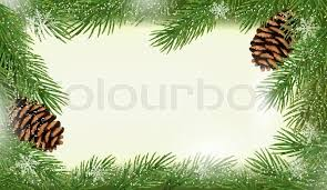 Frame Made Of Christmas Tree Branches With Pine Cones Vector