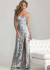 moves 6755 silver strapless sequin sweetheart evening dress