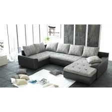 canapé d angle u canapé d angle panoramique 6 places joya gris et noir pu achat
