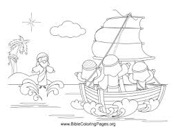 This Bible Coloring Page Reflects The Story Of Jesus Walking On Water To Reach His Disciples