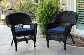 Set Of 2 Black Resin Wicker Outdoor Patio Garden Chairs With Navy ... Amazoncom Leaptime Patio Fniture Rattan Couch 5piece Deck Sofa Hanover Outdoor Metropolitan Wicker Frame Sunnydaze Decor Port Antonio Gray 4piece Metal Sectional Chaise Lounge Lounges Arrow Up Lyndee Blue White Striped Chair Goodglance And 2 Ding Room Outside Pe Hcom Dark Grey Accent Chairs Comfortable Sunbrella Cushions For Upper Outdoor Pillow Covers Throw Pillows Royal Etsy 5pcs Sofa Set Brown Cushion 7078 Exterior Cozy Wooden Material Lowes Navy Blue Patio Chair Cushion Cushions Navy