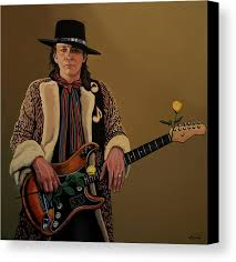 Stevie Ray Vaughan Canvas Print Featuring The Painting 2 By Paul Meijering