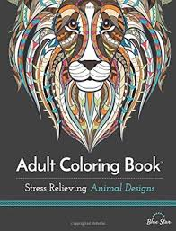 Adult Coloring Books Christmas 2018 Stress Relieving Animal Designs Book Cover