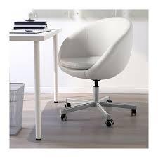 White Swivel Desk Chair Ikea by Skruvsta Swivel Chair Idhult White Ikea