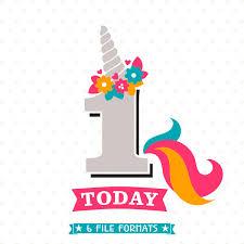 1st Birthday Unicorn SVG file