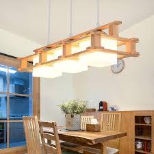 moderne hängeleuchte holz glas eckiges design 3 flammig für