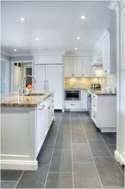 Kitchen With Grey Floor Best Of Tile Flooring Ideas Pros And Cons Cream Cabinets