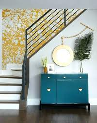 Wallpaper As Accent Wall Appealing For Staircase Images Best Inspiration Powder Room
