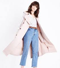 Pink Longline Sleeveless Mac