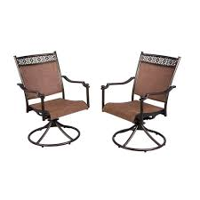 Sling Back Stackable Patio Chairs by Hampton Bay Niles Park Sling Patio Dining Chairs 2 Pack S2