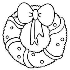 Christmas Wreaths Coloring Pages For Kids