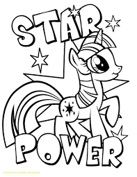 My Little Pony Coloring Pages Princess Twilight Sparkle Alicorn Printable Crystal