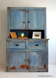 Primitive Rustic Hutch Refinished