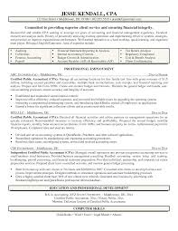 Cpa Resume Sample Simple Public Accounting Accountant Job
