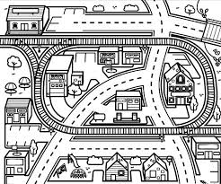 9 Images Of City Scene Coloring Page