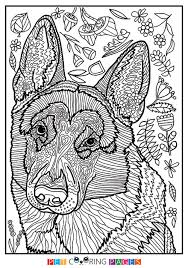 Free Printable German Shepherd Dog Coloring Page Available For Download Simple And Detailed Versions