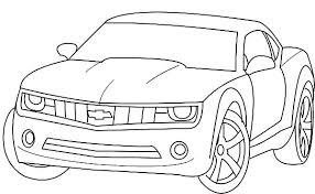 Chevrolet Camaro Bumblebee Car Coloring Pages Best Place To Color