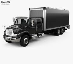 100 Crew Cab Box Truck International Durastar 2017 3D Model Vehicles