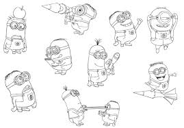Minion Coloring Pages Free Kids
