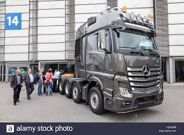 100 Mercedes Semi Truck Benz Actros Heavy Duty Semitrailer Truck Stock Photo