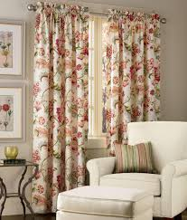 Jacobean Style Floral Curtains by Jacobean Floral Lined Rod Pocket Curtains Country Curtains