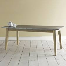 Dining Tables Appealing Gray Rectangle Rustic Wooden Zinc Top Table Stained Ideas