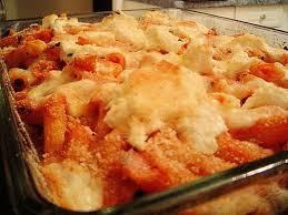 recette de gratin de pâtes à la tomate et aux chignons la