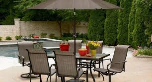 7 Piece Patio Dining Set With Umbrella by Furniture Modern Patio Dining Sets Belham Living Bella All