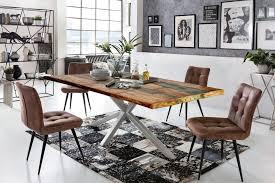 sit esstisch tops tables mit tischplatte aus altholz mit farbresten kaufen otto