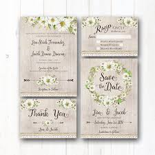 Daisy Wedding Invitation Suite