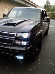 03 06 chevy silverado halo led projector headlights dash z